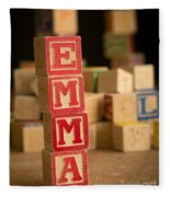 Emma - Alphabet Blocks Fleece Blanket