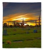 Emmett Cemetery Fleece Blanket