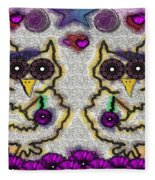 Emo Owls Fleece Blanket