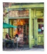 Hoboken Nj - Empire Coffee And Tea Fleece Blanket