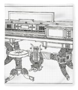 Empire Period Piano 1820 Fleece Blanket