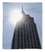 Empire State At Hign Noon Fleece Blanket