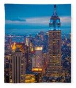 Empire State Blue Night Fleece Blanket