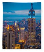Empire State Blue Night Fleece Blanket