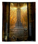 Empire State Building - Magnificent Lobby Fleece Blanket
