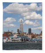 Empire State From The Water Fleece Blanket