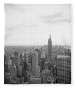Empire State Nyc Fleece Blanket