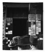 Employment Agency, 1937 Fleece Blanket