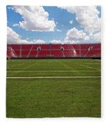 Empty American Football Stadium Fleece Blanket