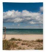 Empty Beach Fleece Blanket