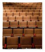 Empty Theater Chairs In Ventura Arts Fleece Blanket