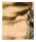 Emu Portrait Fleece Blanket