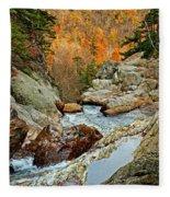 En Route To Glen Ellis Falls Fleece Blanket