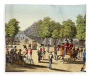 Encampment Of The British Army Fleece Blanket