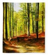 Enchanted Forest - Drawing  Fleece Blanket