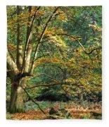 Enchanted Forest Tree Fleece Blanket
