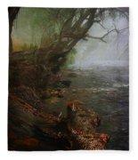 Enchanted River In The Mist Fleece Blanket