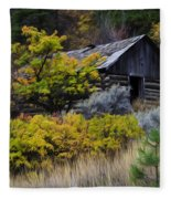 Enchanted Spaces Cabin In The Woods 2 Fleece Blanket