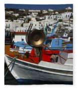Enchanted Spaces Mykonos Greece 2 Fleece Blanket