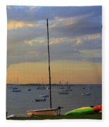End Of Day At The Bay Fleece Blanket