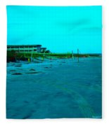 End Of The Day At Isle Of Palms Fleece Blanket