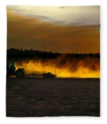 End Of The Day In The Field Fleece Blanket
