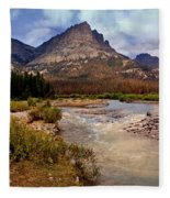 End Of The Road Mountain Fleece Blanket