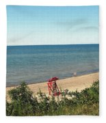 End Of The Season At Wendt Beach Park Fleece Blanket