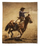 End Of Trail Mounted Shooting Fleece Blanket