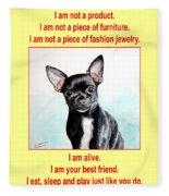 End The Puppy Mills Fleece Blanket