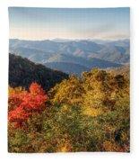 Endless Autumn Mountains Fleece Blanket