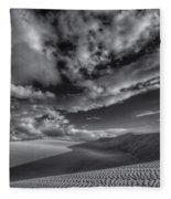 Endless Black And White Fleece Blanket