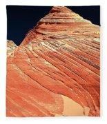 Endless Lines In Sandstone Fleece Blanket