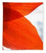 Enfolding In Orange Fleece Blanket