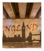 England Graffiti Landmarks Fleece Blanket