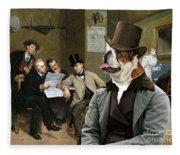 English Bulldog Art - The Latest News Fleece Blanket