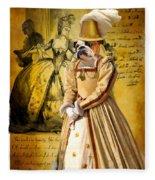 English Bulldog Art Canvas Print  Fleece Blanket