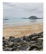 English Channel Beach Fleece Blanket