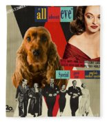 English Cocker Spaniel Art - All About Eve Fleece Blanket