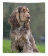 English Cocker Spaniel Dog Fleece Blanket