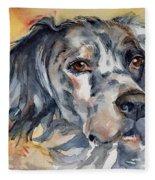 English Setter Portrait Fleece Blanket
