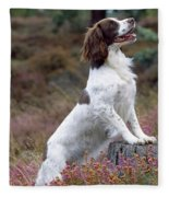 English Springer Spaniel Dog Fleece Blanket