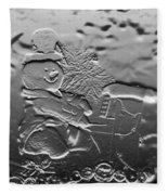 Engraved Snowman Playing The Piano Fleece Blanket