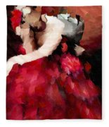 Enigma Of A Geisha - Abstract Realism Fleece Blanket