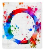 Enso Circle Paint Splatter Fleece Blanket