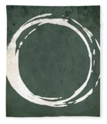 Enso No. 107 Green Fleece Blanket by Julie Niemela