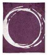Enso No. 107 Magenta Fleece Blanket