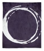 Enso No. 107 Purple Fleece Blanket by Julie Niemela