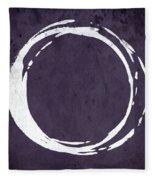 Enso No. 107 Purple Fleece Blanket