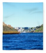 Entering The Narrows Near Fort Amherst Rock By Barbara Griffin Fleece Blanket